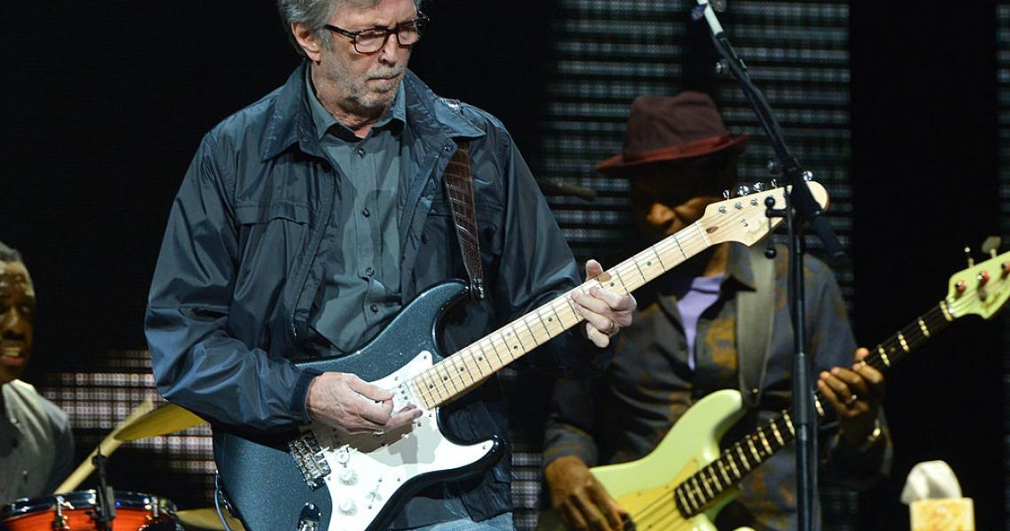 Eric Clapton performs on stage during the 2013 Crossroads Guitar Festival at Madison Square Garden on April 13, 2013 in New York City. (Photo by Larry Busacca/Getty Images)